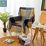 Cobija Decorativo 100% de algodón Tejido Throw Manta del sofá de la Toalla de algodón Caliente...