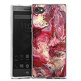 DeinDesign Silikon Hülle kompatibel mit BlackBerry Motion Hülle transparent Handyhülle pink Abstrakt Marmor