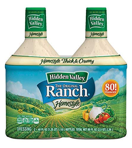 Product of Hidden Valley Original Ranch Homestyle Salad Dressing Bottles, 2 pk./