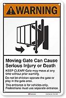 """警告Movingゲートの重大なInjury or Death ( Swingingゲートシンボル) Sign、18"""" x 12"""""""