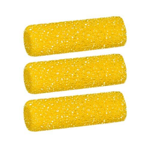 3 x Colorus Grobschaum Strukturrolle | Schaumwalze 11cm gerade | Schaumstoff Strukturwalze für Putze und Spachtelmassen | Kreative Technik| Muster-Walze