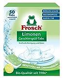 Frosch Limonen Geschirrspül-Tabs, umweltfreundlich, mit wasserlöslicher Folie, für die tägliche Reinigung von Besteck und Geschirr, 50 Tabs, 50 stück
