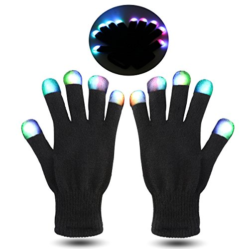 Stocking stuffers for teenage boys gift idea light up gloves.