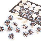 Logbuch-Verlag Lot de stickers en bois avec inscription en anglais Bayerien + pinces...