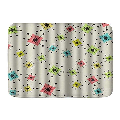 Fußmatten, Vintage Atomic Stars Bumerangs, Küchenboden Badteppichmatte Absorbent Indoor Badezimmer Dekor Fußmatte rutschfest