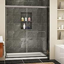 SUNNY SHOWER Framless Shower Door Glass Sliding Design Bathroom Shower Enclosure 1/4