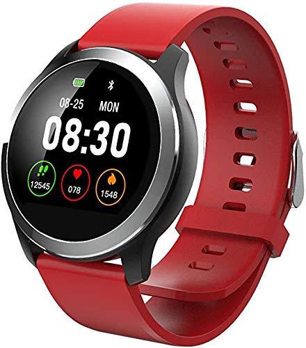 Lloow Smart Watch con Diagrama de reproducción Presión Arterial Cuchillo de frecuencia cardíaca Brillo Ajustable SmartWatch IP68 A Prueba de Agua SmartWatches 2021,C