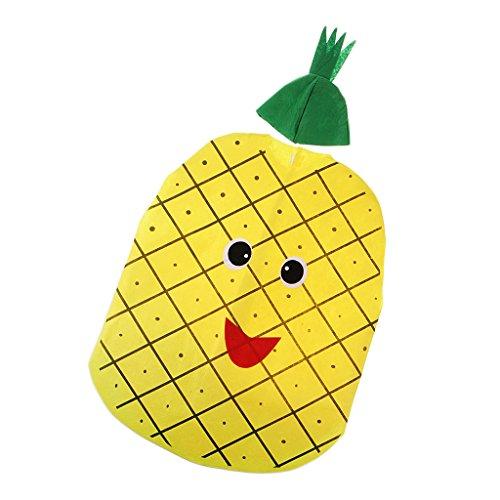 Kinder Kostüm Verkleidung mit Kopfbedeckung für Karneval Fasching Halloween in verschiednenen Motiv - Ananas