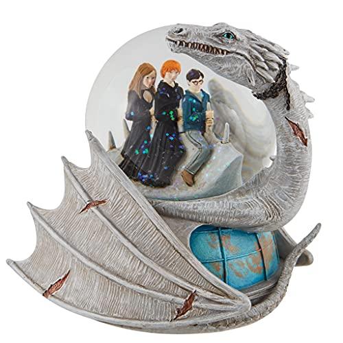 Harry Potter, Ron e Hermoine Equitazione Ucraina Drago Water Globe Pallone da Acqua, 15,71 pollici, Multicolore