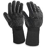MILcea Guantes de barbacoa, guantes de horno, guantes de barbacoa, guantes de barbacoa, guantes de horno, guantes de cocina para cocina y barbacoa, cocinar, hornear, soldadura