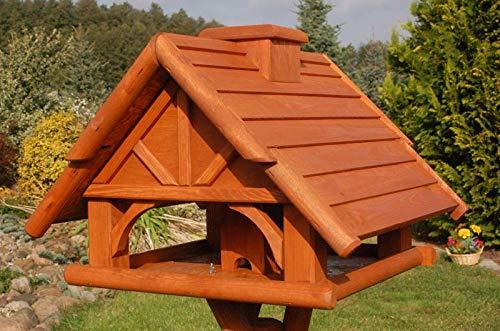 Deko-Shop-Hannusch Vogelhaus Futterhaus Futterhäuschen Vogelvilla mit Solarbeleuchtung, wahlweise mit oder ohne Vogelhausständer V19, Vogelhausständer:ohne Vogelhausständer