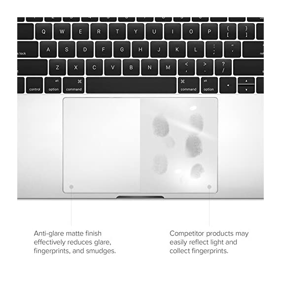 """UPPERCASE GhostCover Touch Premium Touch Bar and Trackpad Protector with Matte Finish, Compatible with 2016 2017 2018 2019 MacBook Pro 13"""" A1706 A1708 A1989 5 <p>The clear, anti-glare film acts as a shield against minor scratches while remaining virtually invisible. Precisely cut for MacBook Pros to deliver an easy-to-apply and seamless finish. Designed to be highly responsive, the cover features superior touch sensitivity. Includes a replacement protector set in case your film starts showing excess wear. Compatible with 2019 MacBook Pro 16 with Apple model number A2141</p>"""