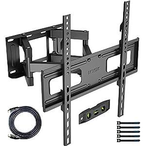 【VESA-Montagekompatibilität】 Universal TV Wandhalterung für die meisten flachen und gebogenen 23-60-Zoll-Fernseher mit einer maximalen Gewichtskapazität von 45 kg. Es passt für VESA-Muster 400x400 / 400x300 / 400x200 / 300x300 / 300x200 / 200x300 / 2...