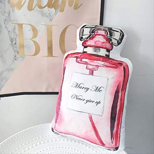 Nueva Botella de simulación lápiz Labial Perfume muñeco de Felpa con impresión de Doble Cara se Puede Desmontar cojín de Almohada Regalo Creativo para Enviar Novia Perfume de 70 x 22 cm