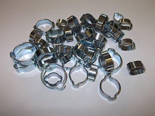 Lot de 42 colliers de serrage à double oreille 8-11 mm, 9-12 mm, 11-13 mm, 13-15 mm, 15-18 mm, 17-20 mm, 20-23 mm
