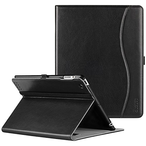 ZtotopCase Case for iPad 2 3 4 (Oldest Models), Smart Premium Leather Stand Cover with Auto Wake/Sleep for iPad 4th Generation with Retina Display, iPad 3rd & iPad 2nd Generation Tablet, Black