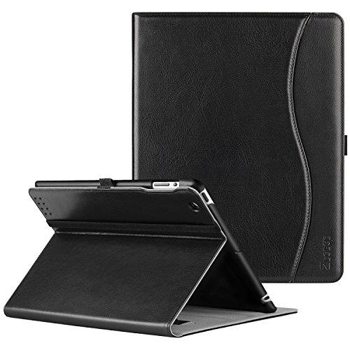 ZtotopCase Hülle für iPad 2 iPad 3 iPad 4,Premium Kunstleder Leder Geschäftshülle Stand Schutzhülle Cover mit Auto Schlaf/Wach Funktion,für 9.7 Zoll iPad 2/iPad 3/iPad 4 Generation,Schwarz