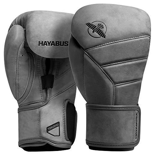 Hayabusa Kanpeki LX Italienisches Leder Boxhandschuhe für Damen und Herren (Schiefer 16 oz)
