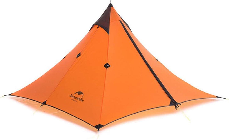 Sugoishop Ultralight Pyramid Tent 1 Person Backpacking orange Teepee Waterproof WindFirm(Exclude Alpenstock)