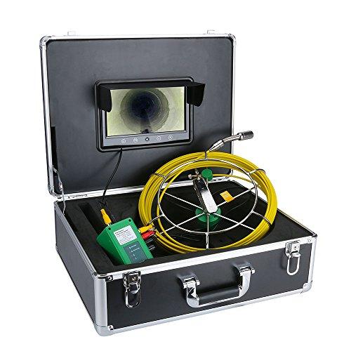 SISHUINIANHUA Sistema de cámara de Video de inspección de alcantarillado de tubería...