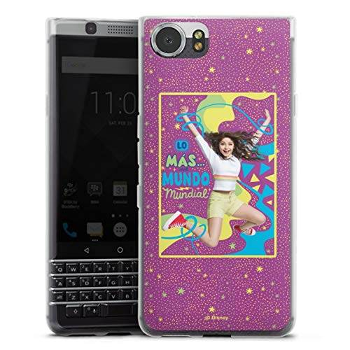 DeinDesign Silikon Hülle kompatibel mit BlackBerry KeyOne Hülle transparent Handyhülle Soy Luna Disney Offizielles Lizenzprodukt