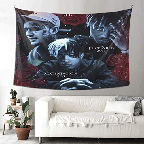 Tengyuntong XXX-Tenta-Zion Ft. Lil Peep Tapestry Wall Hanging Tapestries 3D Print Wall Art for Living Room Bedroom Home Decor Cover Canvas Poster 60 x 51 Inches