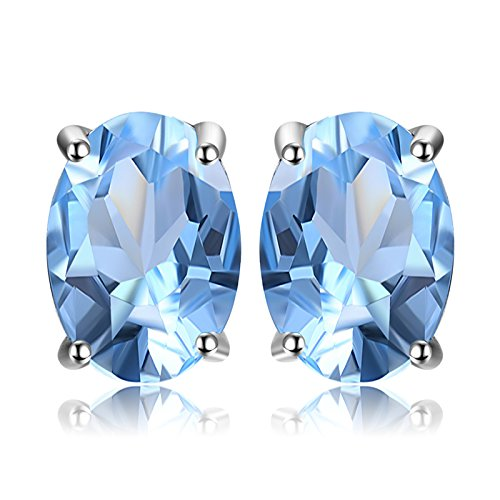 JewelryPalace Pendientes 1.9ct Genuino Topacio