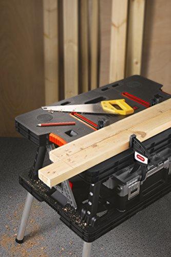 Keter 17182239  Werkzeugbank Master Pro Serie Folding Work Table,  Kunststoff, schwarz / gelb - 2