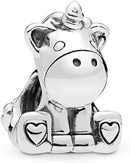 MiniJewelry Compatible with Pandora Charms Bracelets Unicorn Charm Frog Charm Honey Bee Charm Animal Lucky Charm for Girls Boys