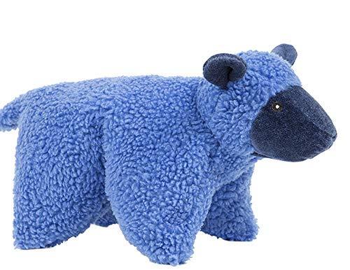HuggleHounds Plush, Durable Knot-Less Squooshie Lamb, Blue