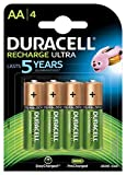 Duracell - Ultra Pilas Recargables AA 2500 mAh, paquete...