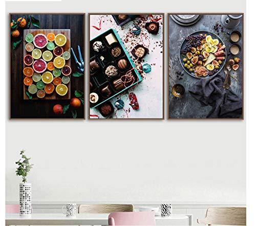 ZKPYY diamant schilderij kersen chocolade afbeelding diamant borduurwerk 40 * 60x3pcs