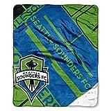MLS Seattle Sounders FC 'Scramble' Raschel Throw Blanket, 50' x 60'