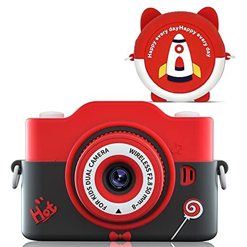 キッズカメラ 令和3年最新版INOCTIカメラ 子供 1080P高画質 子供用 デジタルカメラ 7000万画素 連写 タイマー 録画 撮影 自撮り トイカメラ 8倍ズーム 2.0インチ 多機能 USB充電 操作簡単 おもちゃ 知育玩具 子供プレゼント 日本語説明書付き (black)