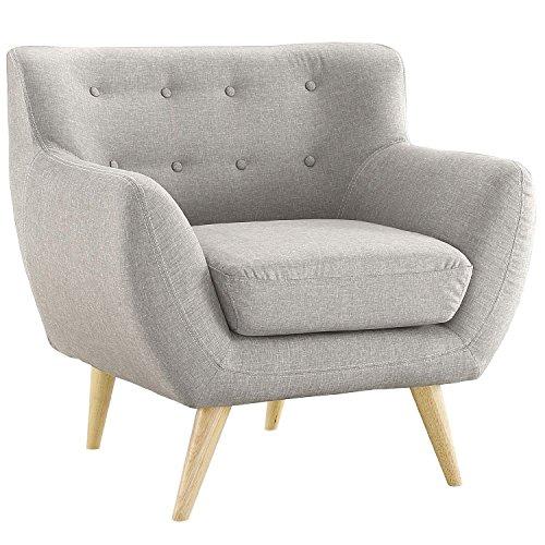 Mid Century Modern Style Sofa / Love Seat Red, Grey, Yellow, Blue - 1 Seat, 2 Seat, 3 Seat (Grey, 1 Seater)