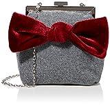 Joe Browns Rockefeller Velvet Bow Bag, Sacchetti per Calzature Donna, Grigio (Grey), Tagli...