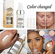 TLM Flawless Color Changing Warm Skin Tone Foundation Makeup Base Nude Face Moisturizing Liquid Cover Concealer (30ML)