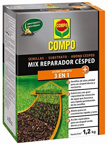 Compo Mix reparador 3 en 1 Semillas, substrato y abono césped, para...