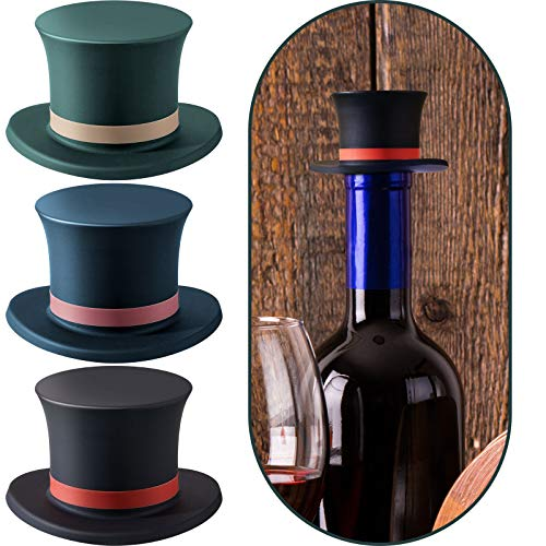 帽子ワインストッパー 赤ワインストッパー 装飾 ワインシール ストッパーキャップ シリコンボトルストッパー 飲み物 ソーダ ウォーターボトル シャンパン ビール用 4個セット