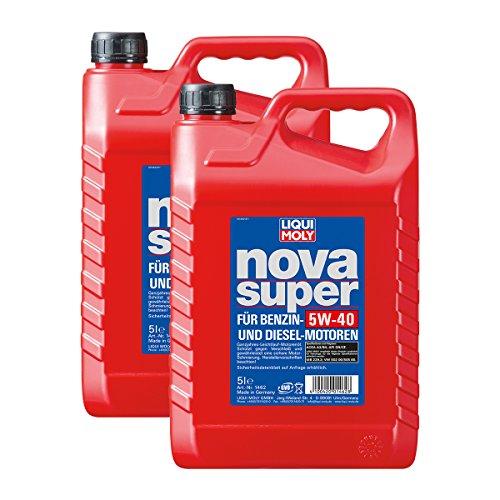 2x LIQUI MOLY 1462 Nova Super Motoröl 5W-40 5L