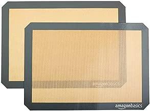 AmazonBasics Silicone, Non-Stick, Food Safe Baking Mat - Pack of 2
