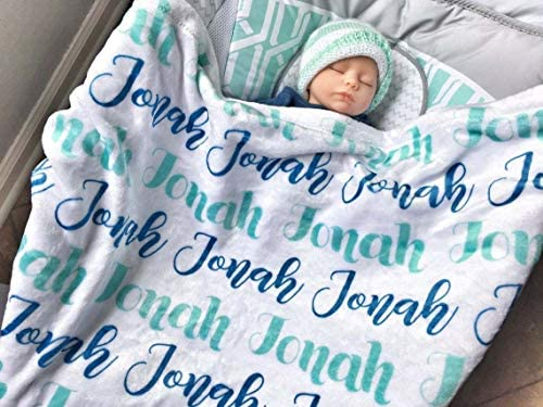 Personalized Blankets for Baby Daughter with Name Personalized Name Blanket for Baby Kids Girls product image