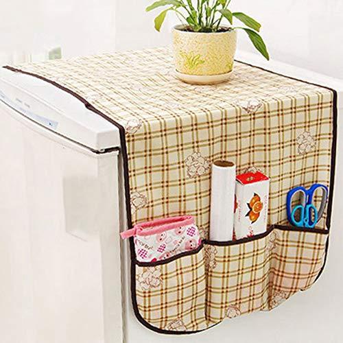 Pequeño oso Refrigerador Cubierta a prueba de polvo Celosía Cubierta del refrigerador Toalla Receptor Bolsa Creativo Hogar aleatorio Osito