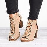 XKDWAN Sandalias Mujer Plataforma Verano Casual Alpargatas de Cuña Plateau Moda Sandalia Elegante Zapatos de Verano con Correa Tobillo Sandalias Talla 35-43,Caqui,42