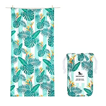 Dock & Bay Lightweight Beach Towel for Swimmers - Botanical - Perfect Paradise - Large  160x90cm 63x35  - Swim Pool Yoga Traveling - 100% Recycled