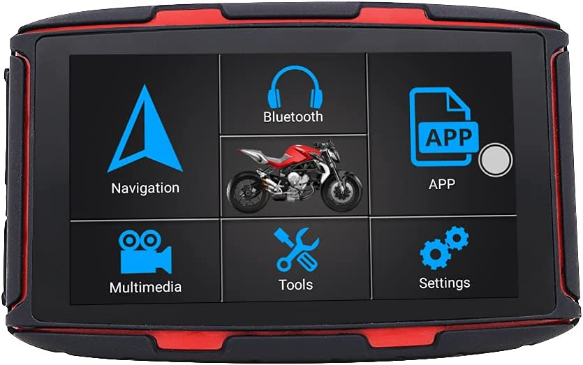 Thahamo 5 Inch Can Be Updated Online Motorcycle GPS Navigation System GPS for Motorcycles GPS Motorcycle Vehicle GPS Units & Equipment