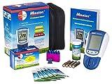 swiss point of care mission 3in1 starter pack   set con 1 misuratore di colesterolo missione, 5 strisce di prova colesterolo, 5 tubi capillari, 5 puntatori   misurazione del colesterolo facile a casa