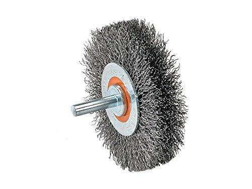 Walter 13C170 Crimped Wire Mounted Brush – 5/8 in. Width, 2 in. Stainless Steel Brush for Surface Cleaning. Abrasive Finishing Brushes