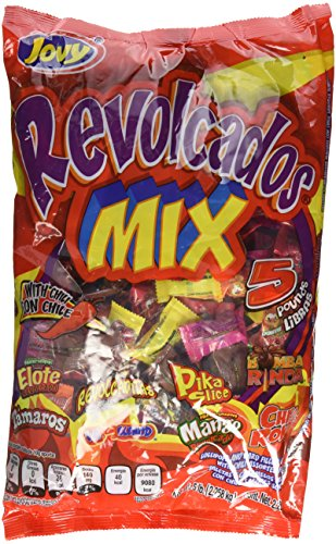 Jovy Revolcaditos Mix Assorted Flavored Candies with Chili| 5lb Bag | Mexican Candy