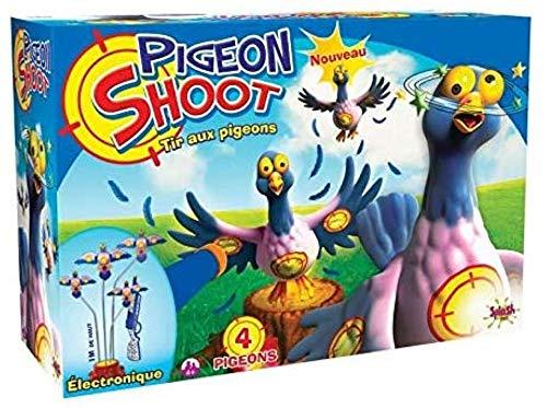 Splash Toys Shoot 4 Tir aux Pigeons électronique avec sa Carabine et Ses fléchettes, 56106, Jaune